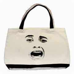 Scared Woman Expression Basic Tote Bag by dflcprints