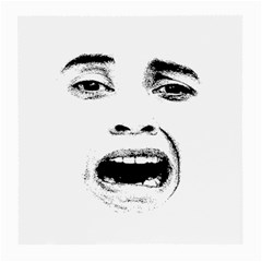 Scared Woman Expression Medium Glasses Cloth (2 Side) by dflcprints