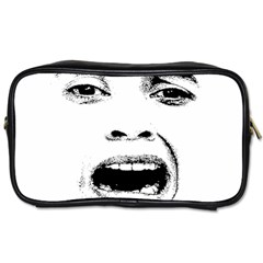 Scared Woman Expression Toiletries Bags by dflcprints
