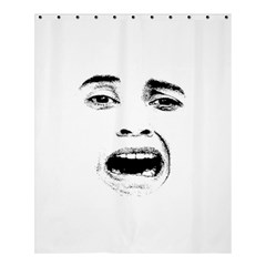 Scared Woman Expression Shower Curtain 60  X 72  (medium)  by dflcprints