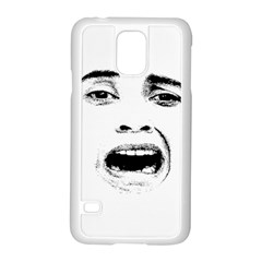 Scared Woman Expression Samsung Galaxy S5 Case (white) by dflcprints
