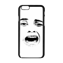 Scared Woman Expression Apple Iphone 6/6s Black Enamel Case by dflcprints
