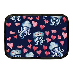 Jellyfish Love Netbook Case (medium)  by BubbSnugg