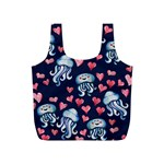 Jellyfish Love Full Print Recycle Bags (S)  Back