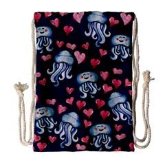 Jellyfish Love Drawstring Bag (large) by BubbSnugg