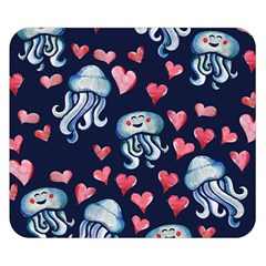 Jellyfish Love Double Sided Flano Blanket (small)  by BubbSnugg