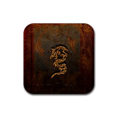 Awesome Dragon, Tribal Design Rubber Coaster (square)  by FantasyWorld7