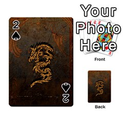 Awesome Dragon, Tribal Design Playing Cards 54 Designs  by FantasyWorld7