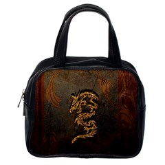 Awesome Dragon, Tribal Design Classic Handbags (one Side) by FantasyWorld7