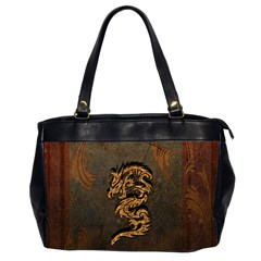 Awesome Dragon, Tribal Design Office Handbags (2 Sides)  by FantasyWorld7