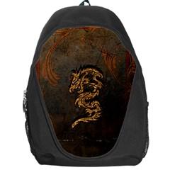 Awesome Dragon, Tribal Design Backpack Bag by FantasyWorld7