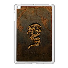 Awesome Dragon, Tribal Design Apple Ipad Mini Case (white) by FantasyWorld7