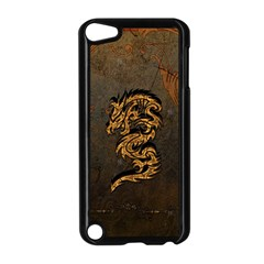 Awesome Dragon, Tribal Design Apple Ipod Touch 5 Case (black) by FantasyWorld7