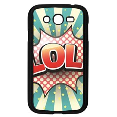 Lol Comic Speech Bubble Vector Illustration Samsung Galaxy Grand Duos I9082 Case (black) by Onesevenart