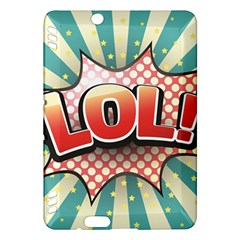 Lol Comic Speech Bubble Vector Illustration Kindle Fire Hdx Hardshell Case by Onesevenart