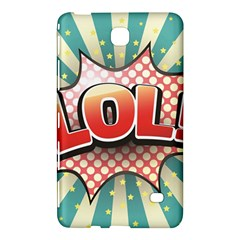 Lol Comic Speech Bubble Vector Illustration Samsung Galaxy Tab 4 (8 ) Hardshell Case  by Onesevenart