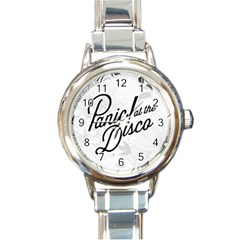 Panic At The Disco Flowers Round Italian Charm Watch by Onesevenart