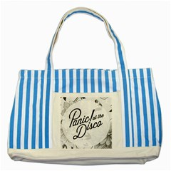 Panic At The Disco Flowers Striped Blue Tote Bag by Onesevenart