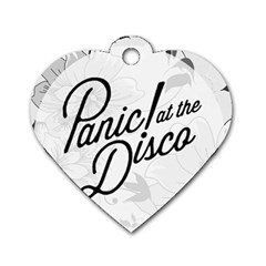 Panic At The Disco Flowers Dog Tag Heart (one Side) by Onesevenart