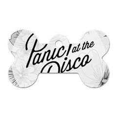 Panic At The Disco Flowers Dog Tag Bone (two Sides) by Onesevenart