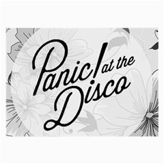 Panic At The Disco Flowers Large Glasses Cloth (2 Side) by Onesevenart