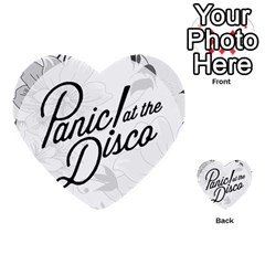 Panic At The Disco Flowers Multi Purpose Cards (heart)  by Onesevenart