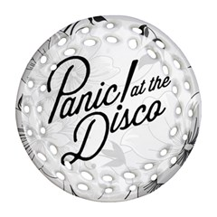 Panic At The Disco Flowers Round Filigree Ornament (2side) by Onesevenart