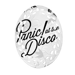 Panic At The Disco Flowers Oval Filigree Ornament (2 Side)  by Onesevenart