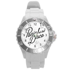 Panic At The Disco Flowers Round Plastic Sport Watch (l) by Onesevenart