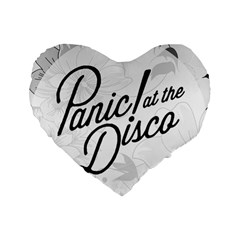 Panic At The Disco Flowers Standard 16  Premium Heart Shape Cushions by Onesevenart