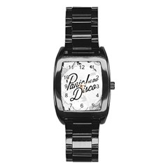 Panic At The Disco Flowers Stainless Steel Barrel Watch by Onesevenart