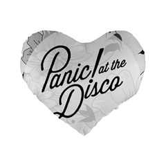 Panic At The Disco Flowers Standard 16  Premium Flano Heart Shape Cushions by Onesevenart