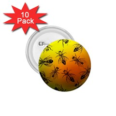Insect Pattern 1.75  Buttons (10 pack) by Onesevenart