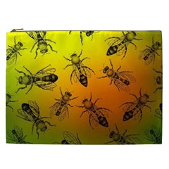 Insect Pattern Cosmetic Bag (xxl)  by Onesevenart