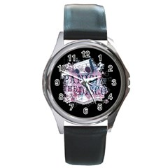 Panic At The Disco Art Round Metal Watch by Onesevenart