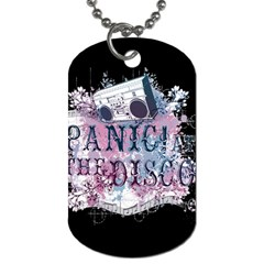 Panic At The Disco Art Dog Tag (two Sides) by Onesevenart