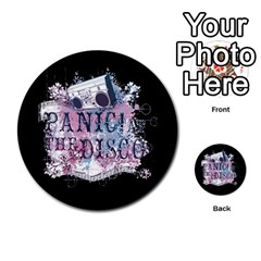 Panic At The Disco Art Multi Purpose Cards (round)  by Onesevenart