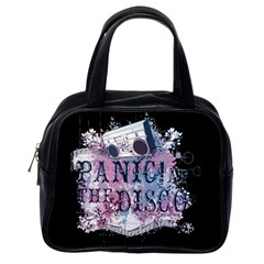Panic At The Disco Art Classic Handbags (one Side) by Onesevenart