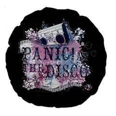 Panic At The Disco Art Large 18  Premium Round Cushions by Onesevenart