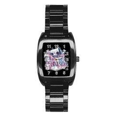 Panic At The Disco Art Stainless Steel Barrel Watch by Onesevenart