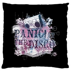 Panic At The Disco Art Large Flano Cushion Case (two Sides) by Onesevenart