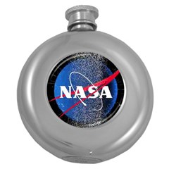 Nasa Logo Round Hip Flask (5 Oz) by Onesevenart