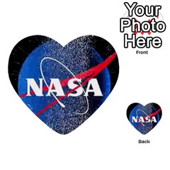 Nasa Logo Multi Purpose Cards (heart)  by Onesevenart