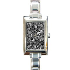 Panic At The Disco Lyric Quotes Retina Ready Rectangle Italian Charm Watch by Onesevenart