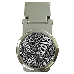Panic At The Disco Lyric Quotes Retina Ready Money Clip Watches by Onesevenart