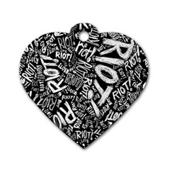 Panic At The Disco Lyric Quotes Retina Ready Dog Tag Heart (two Sides) by Onesevenart