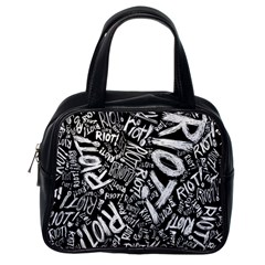 Panic At The Disco Lyric Quotes Retina Ready Classic Handbags (one Side) by Onesevenart