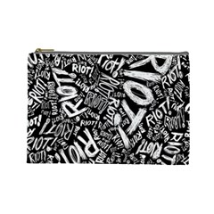 Panic At The Disco Lyric Quotes Retina Ready Cosmetic Bag (large)  by Onesevenart
