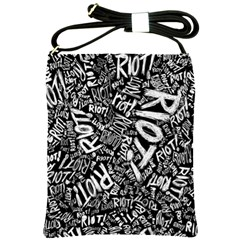 Panic At The Disco Lyric Quotes Retina Ready Shoulder Sling Bags by Onesevenart