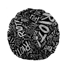 Panic At The Disco Lyric Quotes Retina Ready Standard 15  Premium Round Cushions by Onesevenart